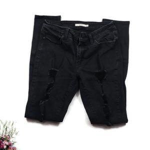 Levi's 711 Skinny Jeans Distressed